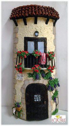 Rosabel manualidades: Tejas decoradas
