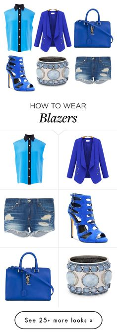 """Blue Day"" by koala105 on Polyvore featuring Chelsea & Zoe, FAUSTO PUGLISI, rag & bone, Yves Saint Laurent, WithChic and Chico's"