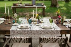 beautiful boho table setup