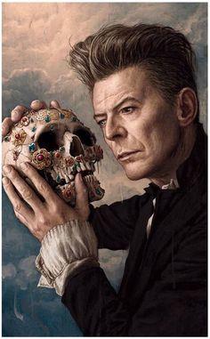 David Bowie ~ Illustration Rory Kurtz for  Rolling Stone magazine .