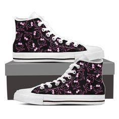 - Lace-up closure for a snug fit. Hello Kitty Shoes, Sock Shoes, Snug Fit, Converse Chuck Taylor, High Top Sneakers, Tights, Lace Up, Socks, Fashion Outfits