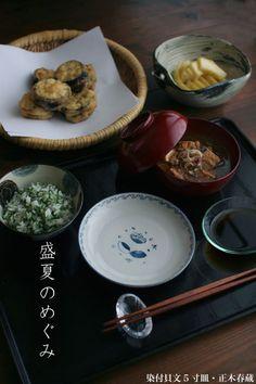 【一汁一菜】お味噌汁中心の食事:厚揚げ、茗荷