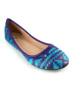 Take a look at this GC Shoes Purple & Blue Emma Flat by GC Shoes on #zulily today!
