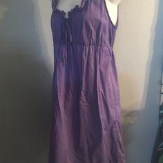 Purple cotton sleeveless dress Size small purple cotton sleeveless dress Dresses