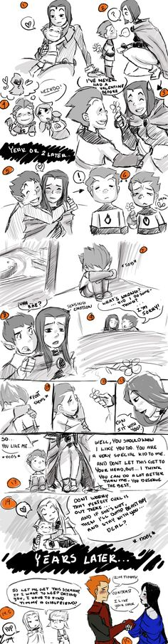 young love comic  by ceshira, raven and beast boy, teen titans <~ ... My first love never gave me this speech... ):(