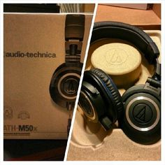 #FanPhotoFriday: Fresh out of the box, a brand-new pair of our ATH-M50x #headphones. Enjoy!