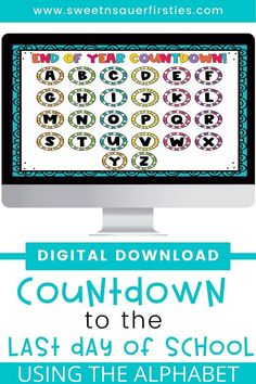 Are you looking for a fun way to count down the end of the year digitally? Your students will LOVE this fun way to end the year together! There is a different theme for each day that matches with the letter of the alphabet. With interactive, clickable linked slides, you and your students will have a blast celebrating, even with distance learning. This end of year countdown idea is unlike anything you've seen before. This is a fun and easy end of school countdown activity students will love.