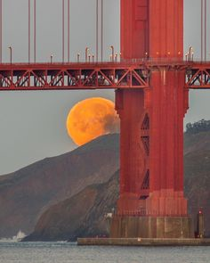 Golden Gate Bridge Blue Moon by @the415guy by photoblog.sanfranciscofeelings.com sanfrancisco sf bayarea alwayssf goldengatebridge goldengate alcatraz california