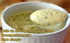 Receita de patê de cottage com cebolinha FIT #receitas #receitasfit #receitaslight #dieta #fitness
