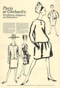 Paris at Ohrbach's:  freshness, elegance, architecture
