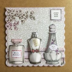 Perfume Bottles   docrafts.com Pocket Pal, Card Making Templates, Craftwork Cards, Birthday Cards For Women, Perfume Making, Pocket Letters, Vintage Ephemera, Cute Cards, Making Ideas