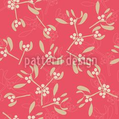 Mistletoe Pink designed by Martina Stadler, vector download available on patterndesigns.com