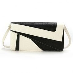 $11.71 Casual Women's Clutch With Snake Veins and Splice Design