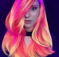 Glowing Neon Hair!