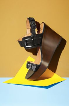 A wedge you can wear with black or brown.