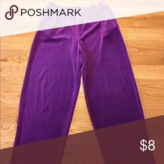 Liz Claiborne leisure pants Ladies Liz Claiborne/Liz Sport leisure pants in light purple. Soft velvet feel. Has side pockets. Size Petite Medium. Liz Claiborne Pants Track Pants & Joggers