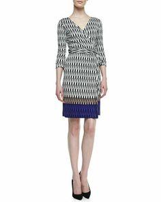 Good for work Diane von Furstenberg New Julian Two Snake-Print Silk Jersey Dress - Neiman Marcus