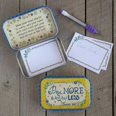 Pray More. Worry Less. Prayer Box- Just got one of these over the weekend!
