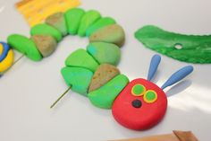Hungry Fondant Worm Cake Topper 1 qty for cupcakes, hungry caterpillar or birthday cake. $16.00, via Etsy.