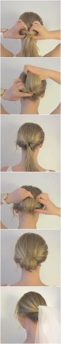Simple classic wedding hair you can do yourself