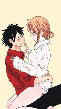 Nami One Piece, One Piece Comic, One Piece Fanart, One Piece Ship, Anime Couple Kiss, Anime Couples Manga, Bleach Fanart, Bleach Anime, One Piece Pictures