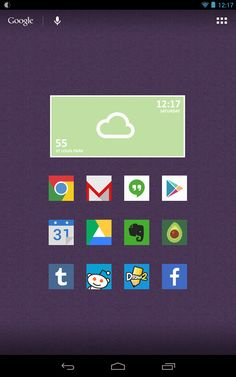 20 Beautiful Nexus 7 Homescreen Customizations