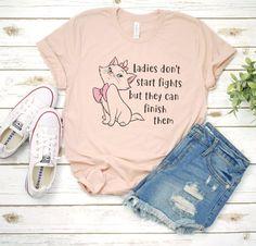 Disney / Marie / Aristocats / Magic Kingdom / Disney World / Disneyland / Mouse / T-Shirt / T Shirt / Tee / Shirt / Girls / Womens / Tank – T-Shirts & Sweaters Cute Disney Outfits, Cute Outfits, Disney Clothes, Cute Shirts, Cute Disney Shirts, Disney Tees, Disney Shirts Women, His And Hers Disney Shirts, Disneyland Shirts