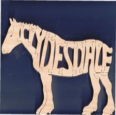 Clydesdale Puzzle Horse Puzzle Cut On Scroll Saw by DukesScrollSaw