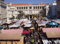 French Riviera. The outdoor market in Nice.