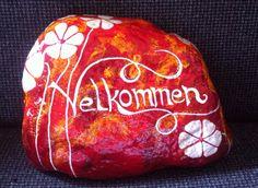 Rød Velkommen sten