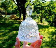 Antique Fenton Art Glass | Vintage Fenton Art Glass Lily of the Valley Opalescent Bell