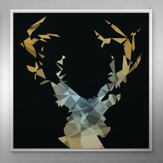 MY DEER Contemporary, iPop Art Series / Gallery wrapped canvas print / White shadow gap frame / Size: 120 x 120 cm / Certified and signed / 2015 Art Series, Frame Sizes, Wrapped Canvas, Evolution, Deer, Gap, Canvas Prints, Contemporary, Gallery