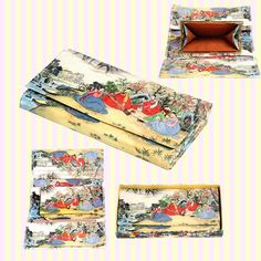 Korean Folk Art Tri-fold Long Wallet/Korean souvenirs/Korean gifts/Korean tourist gifts/ 한국 민속 3단 장지갑/한국기념품/한국민속기념품/외국인선물