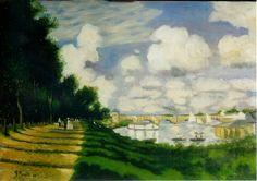 """Copia da """"Il bacino di Argenteuil"""" di C. Monet. olio su tela"""