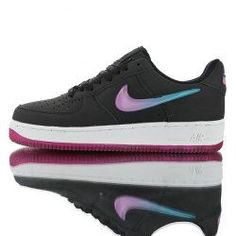 """Nike Air Force 1 Low """"Jelly Swoosh"""" Black sunset shade with purple jelly hook unisex Athletic Sneakers shoes New Air Force One, Air Force One Shoes, Air Force 1 High, Nike Air Force, White Air Force Ones, Ivory Shoes, Sporty Outfits, Sneakers Nike, Jelly"""