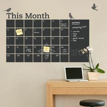 New 2014DIY Vinyl Chalkboard Wall Calendar 6 Cute Birds Blackboard Wall Stickers Wallpaper Poster Art Decal Room Decor 100x70cm(China (Mainland))