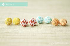 DIY Fabric Button Earrings Tutorial. Great way to get a whole pile of stud earrings