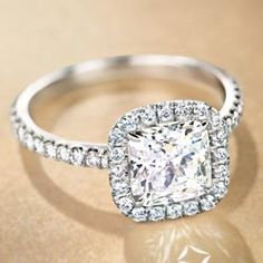 Forevermark Cushion Halo Ring; HRA Crossworks; 1.50 ct center stone; I+ VS/SI Dream Ring