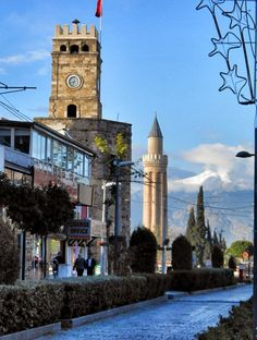 Antalya's Clock Tower and Yivli (fluted) Minaret