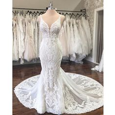 The Wedding Studio ( The Wedding Studio Indianapolis In Elegant Wedding Gowns, Gorgeous Wedding Dress, White Wedding Dresses, Lace Wedding, Martina Liana Wedding Dresses, Lace Trumpet Wedding Dress, Art Deco Wedding Dress, Vetement Fashion, Chris Martin