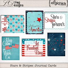 Stars & Stripes Collection and a freebie!!!!!!!!!