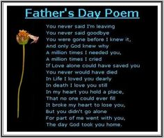Happy Fathers Day Poems From Daughter http://holipictures.com/fathers-day-poems-from-daughter/