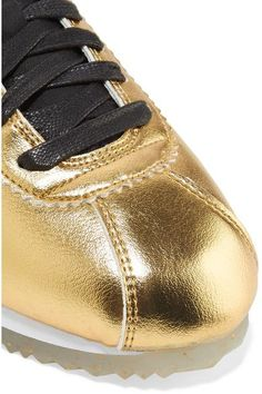 Nike - Classic Cortez Metallic Leather Sneakers - Gold Cheap Nike bb3f5f51d52