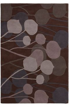 Chandra Rugs Inhabit INH2 Brown Rug | Contemporary Rugs #RugsUSA