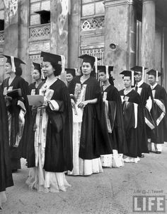 Philippine women graduating from Adamson University, Manila, Philippines, May 1948 Philippines Culture, Philippines Travel, Philippine Women, Class Pictures, Life Magazine, Pinoy, Over The Years, Martial Arts, Book Art