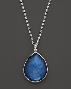 "Ippolita Sterling Silver Wonderland Teardrop Pendant Necklace in Celeste Doublet, 16"" | Bloomingdale's"