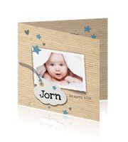 Foto geboortekaartje jongen sterren en foto - LOVZ:http://kaartjesparadijs.nl/winkel/foto-geboortekaartje-jongen-sterren-en-foto-lovz/
