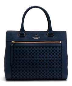Kate Spade French Navy Romy Perri Lane Bubbles Tote