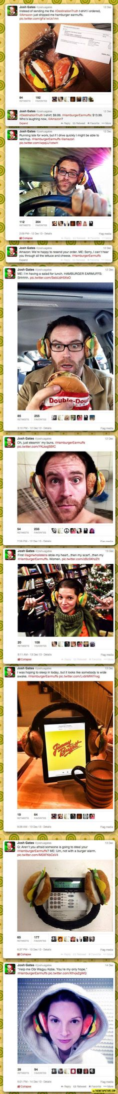Hamburger Earmuffs, the best Amazon mistake ever… I love josh