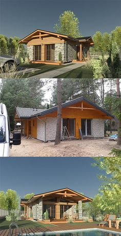 Budowa domu Adamów, gm. Radziejowice. Funkcjonalne rozmieszczenie pomieszczeń na jednym poziomie, dom letniskowy. Budowa domu na podstawie projektu Elmo.